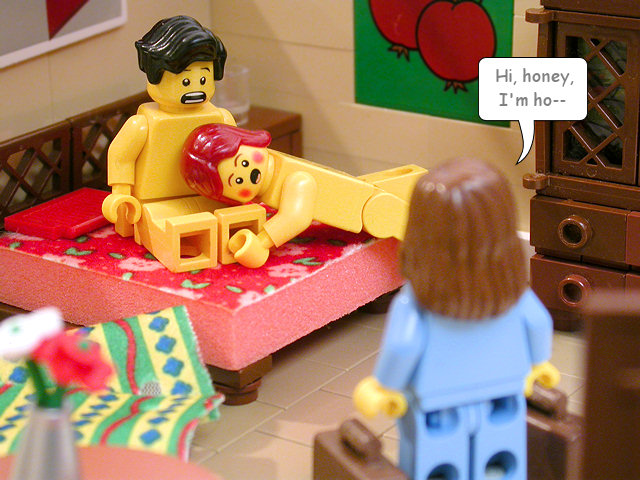 People having sex with lego toys