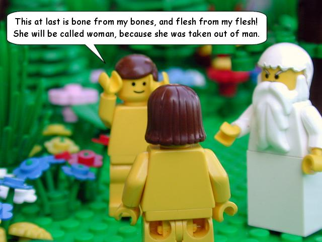 Legos - Creation of Adam