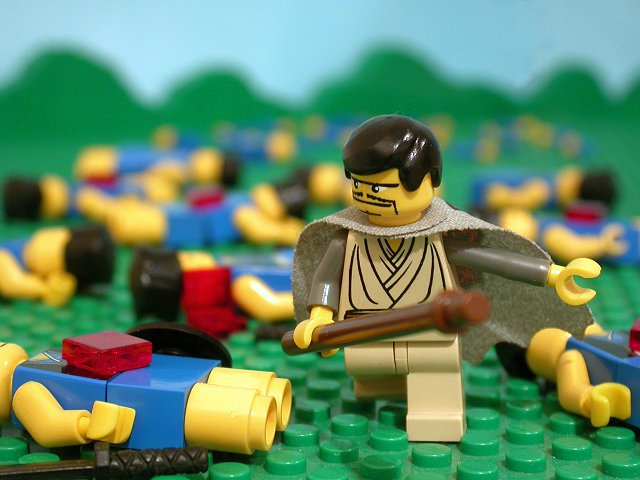 600 Philistines Killed by Shamgar, via the Brick Testament