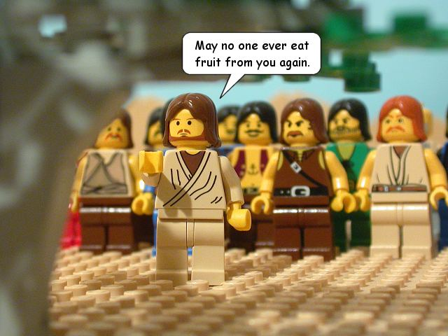 legos, jesus to the fig tree
