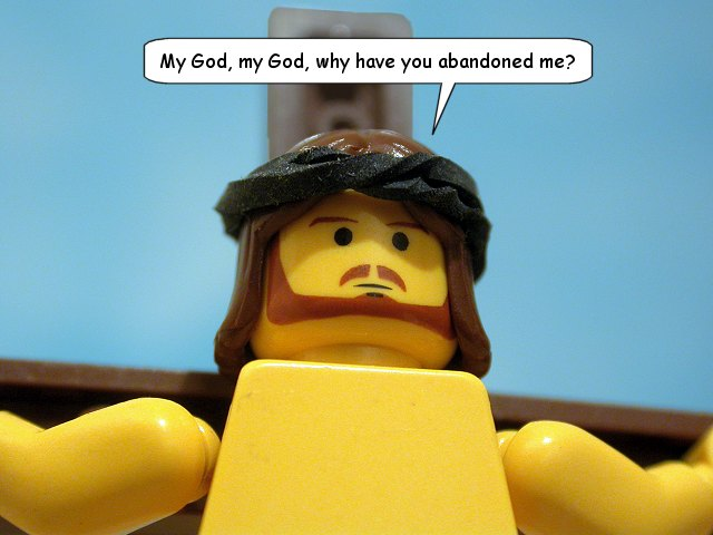Jesus Plastic-Brick Christ on a Cross!
